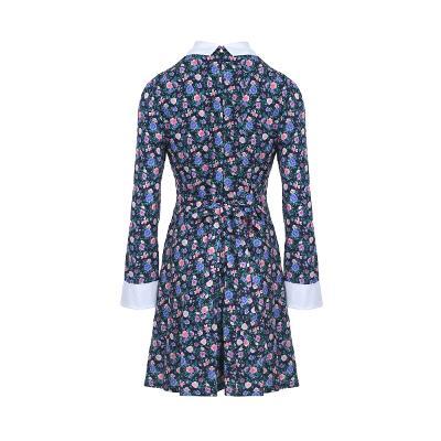 flower pattern collar dress multi